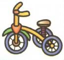 儿童脚踏三轮车简笔画图片大全(2个教程)