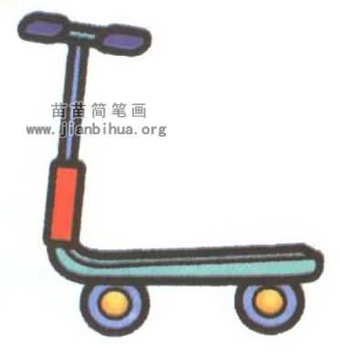 滑板车简笔画
