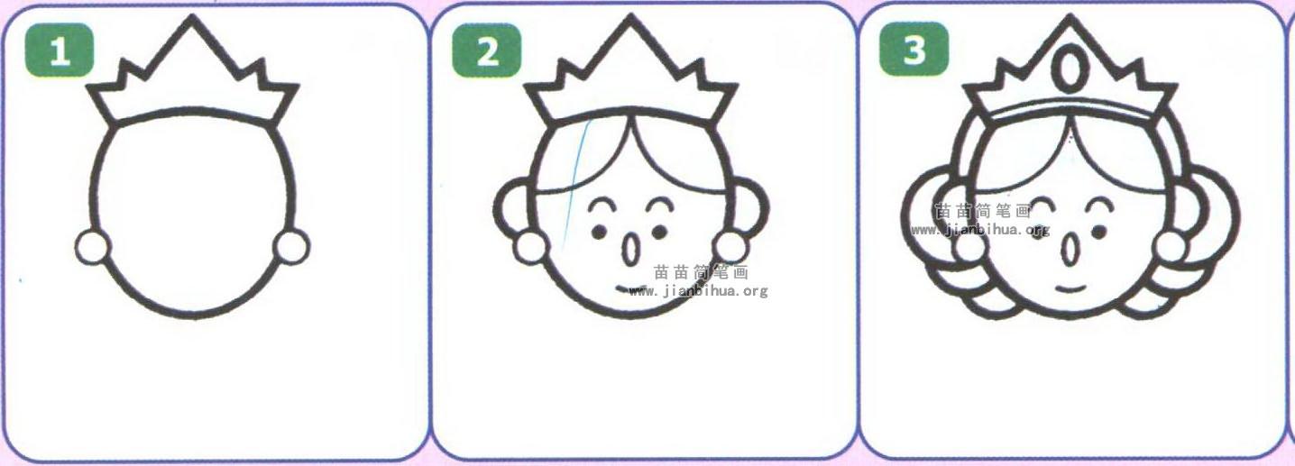 皇后简笔画