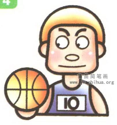 篮球运动员简笔画图解(2个教程)