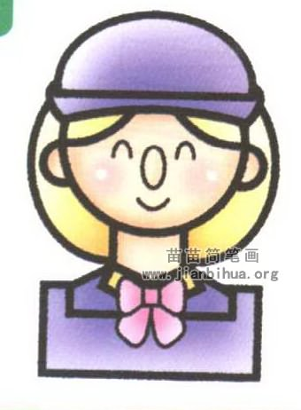 人物简笔画 职业人物简笔画  什么是女孩? 女孩泛指年轻的女性人类.