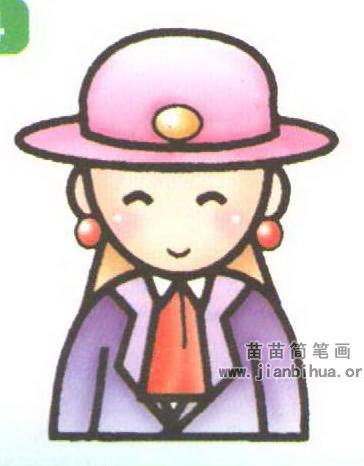漂亮女孩简笔画图片大全_超可爱萌的小公主画法