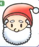 圣诞老人头像简笔画图片大全(3个教程)