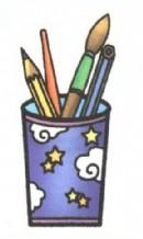笔筒简笔画(2个教程)