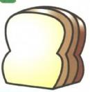 面包简笔画画法图解