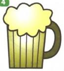 一杯啤酒简笔画画法图解