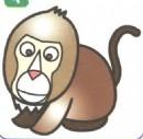 狒狒卡通简笔画图片教程