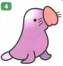 小海豹卡通简笔画图片教程