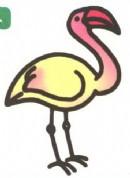 红鹤(火烈鸟)卡通简笔画图片教程