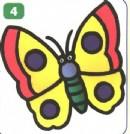 蝴蝶卡通简笔画怎么画图解