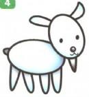 小山羊卡通简笔画图片教程