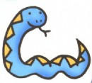 可爱的蛇卡通简笔画图片教程