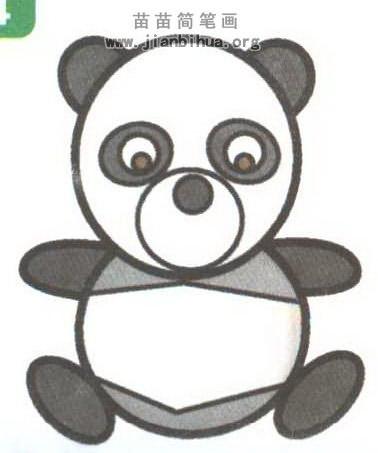 动物简笔画 卡通动物简笔画  关于熊猫的知识: 大熊猫黑白相间的外表