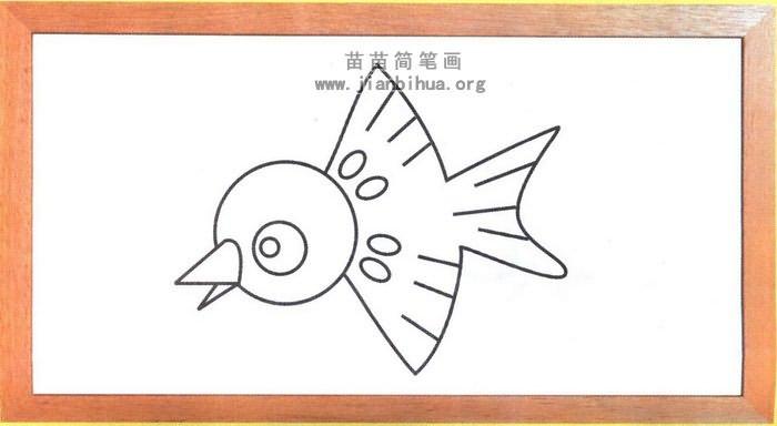 动物简笔画 鸟类简笔画  1,圆脑尖嘴巴. 2,后面是身子. 3,眼睛长边上.
