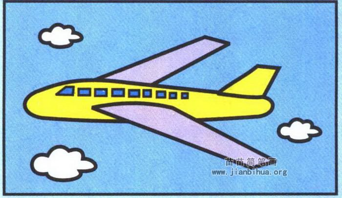 客机简笔画
