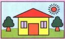 房子简笔画带颜色图片、教程