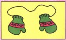 冬天手套简笔画图片、教程