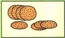 圆形饼干简笔画图片、教程
