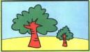 大树简笔画彩色图片、教程