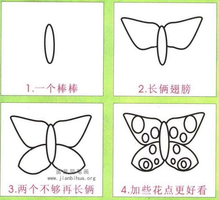 蝴蝶花简笔画