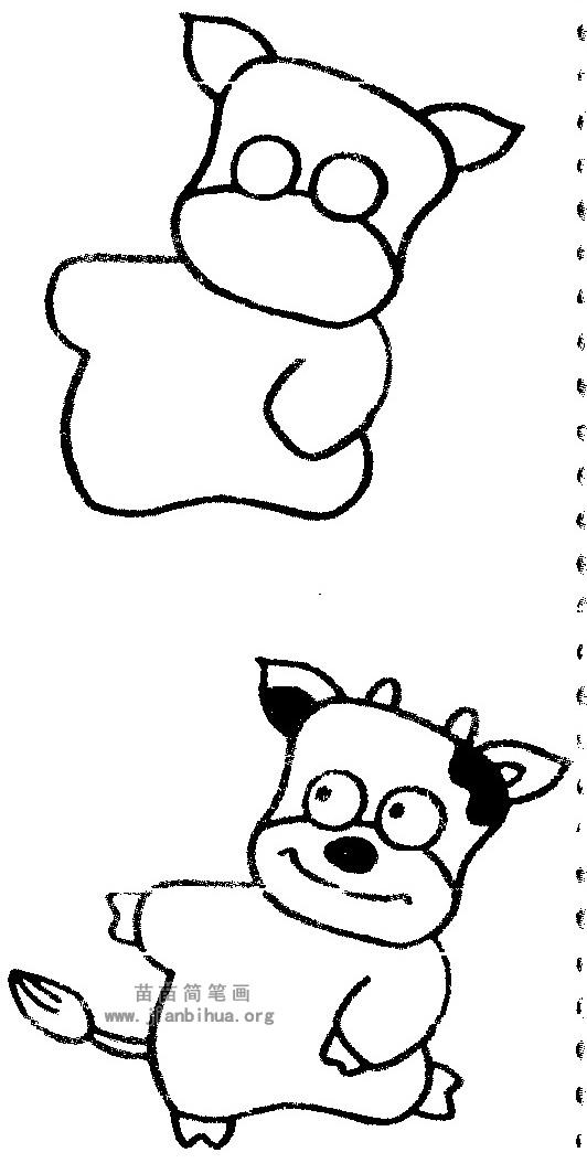 奶牛简笔画