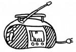 收音机简笔画图片与知识