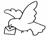 鸽子简笔画、儿歌与知识