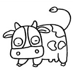 奶牛简笔画、儿歌与知识