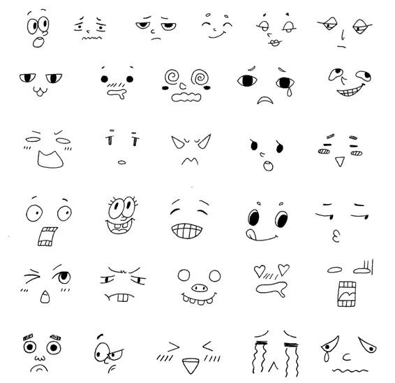 表情怎么画简笔画图解