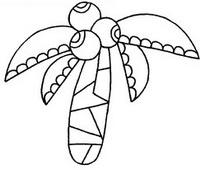 椰子树怎么画简笔画图解