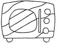 微波炉怎么画简笔画图解