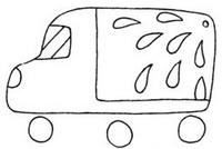 卡车怎么画简笔画图解