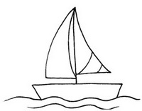 帆船怎么画简笔画图解