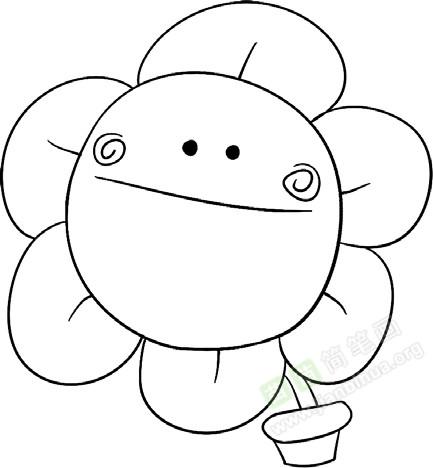 盆栽简笔画