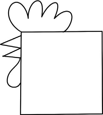 公鸡简笔画