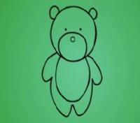 小熊简笔画_小熊怎么画简笔画视频教程