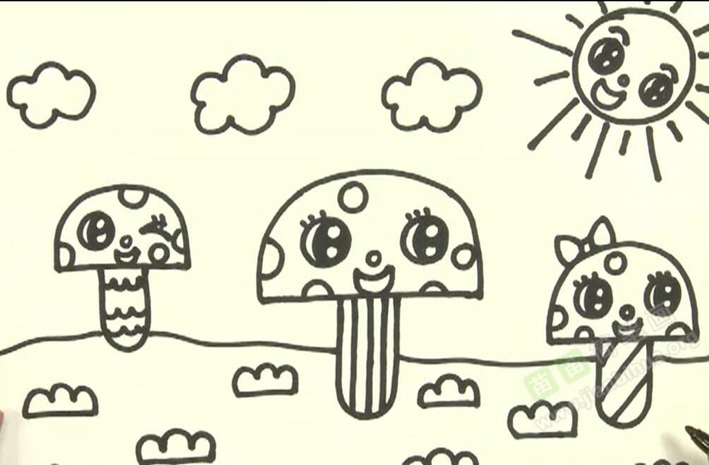 蘑菇简笔画