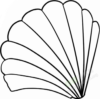 贝壳简笔画