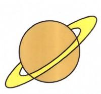土星简笔画怎么画