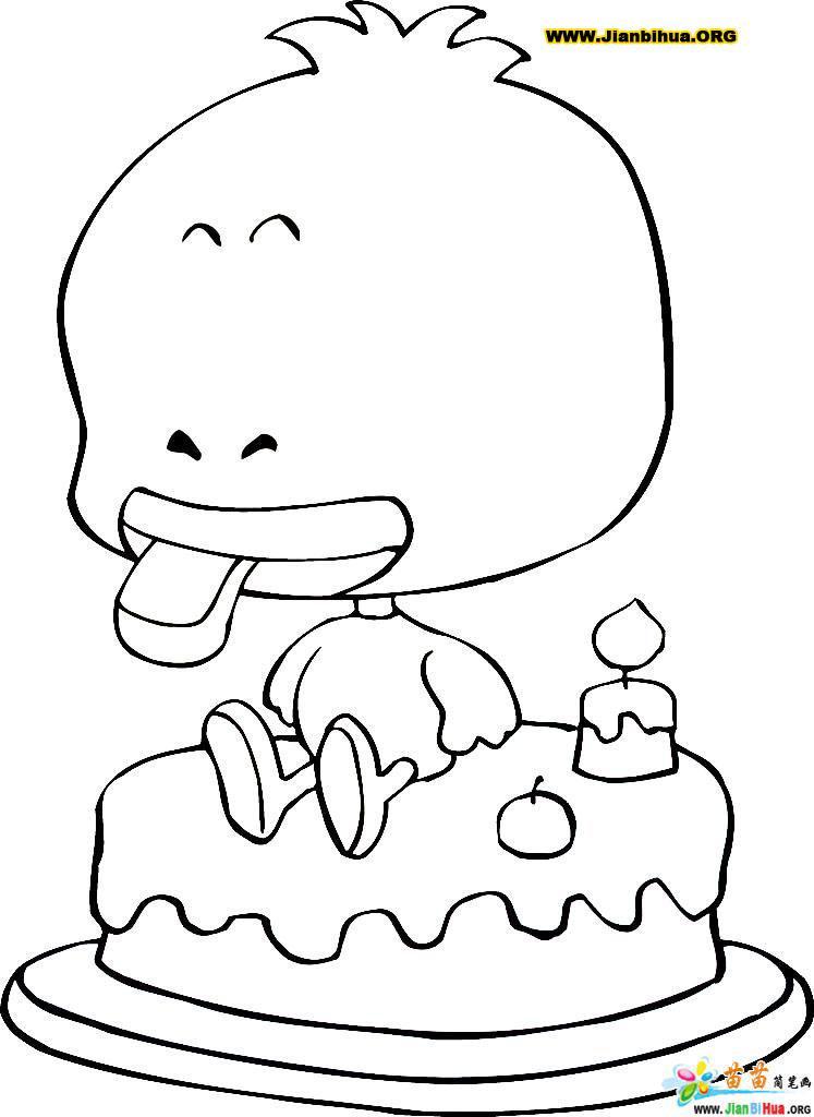 小鸡和小鸭简笔画画法5张