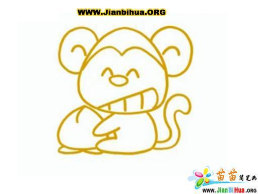 猴子简笔画图片2张