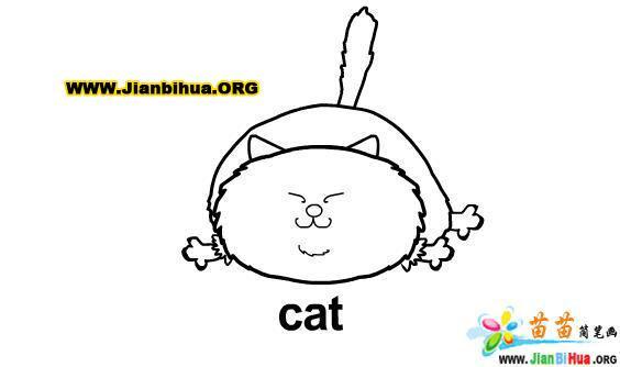 小猫(cat)简笔画图片16张