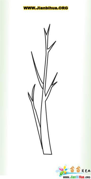 树杈图片简笔画_树杈最简单的画