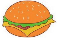 汉堡简笔画怎么画、图片大全