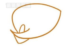 马蹄莲简笔画图片步骤二