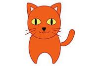 猫咪简笔画彩色图片大全、教程