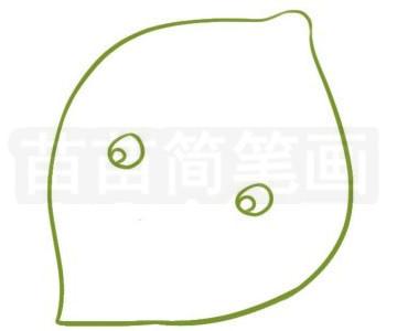 柠檬简笔画图片步骤二