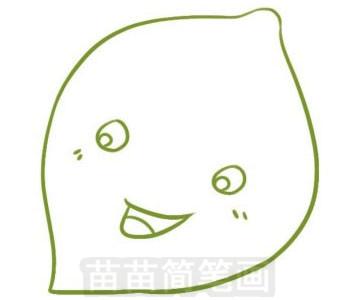 柠檬简笔画图片步骤三