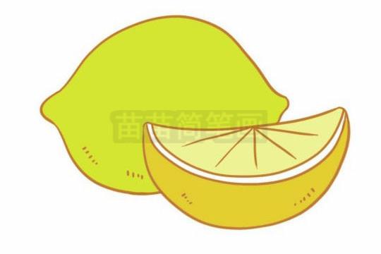 柠檬简笔画图片大全作品二