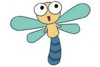 蜻蜓简笔画彩色图片大全、教程